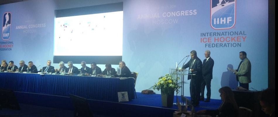 Bülent Akay'dan Moskova'daki IIHF Kongresi'nde Konuşma