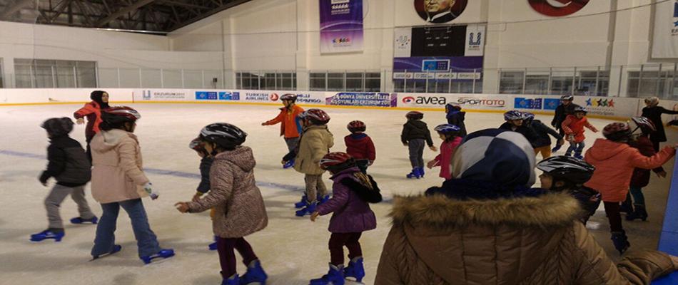Erzurum ASP Buz Hokeyi Çalışmaları Başladı