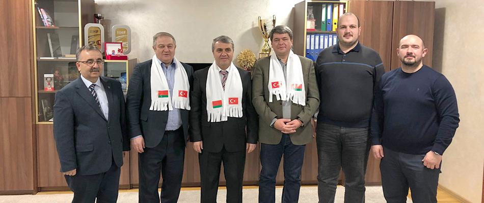 Belarus ve Türkiye Buz Hokeyi Federasyonları Minsk'te Buluştu...